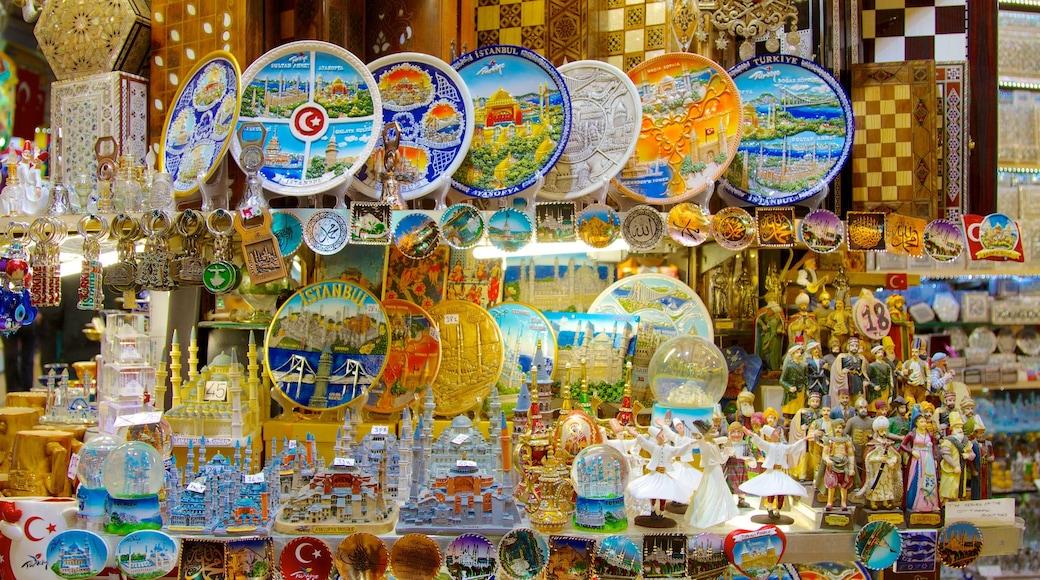 Gran Bazar mostrando mercados y vistas interiores
