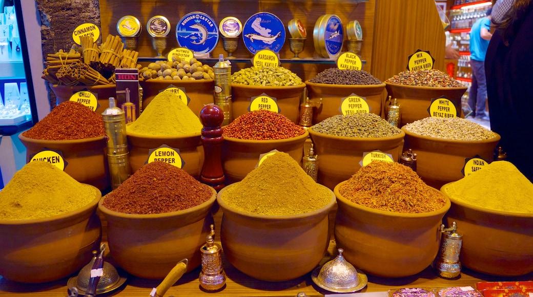 Estambul mostrando mercados y comida