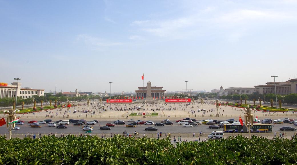 天安門廣場 其中包括 街道景色, 廣場 和 城市