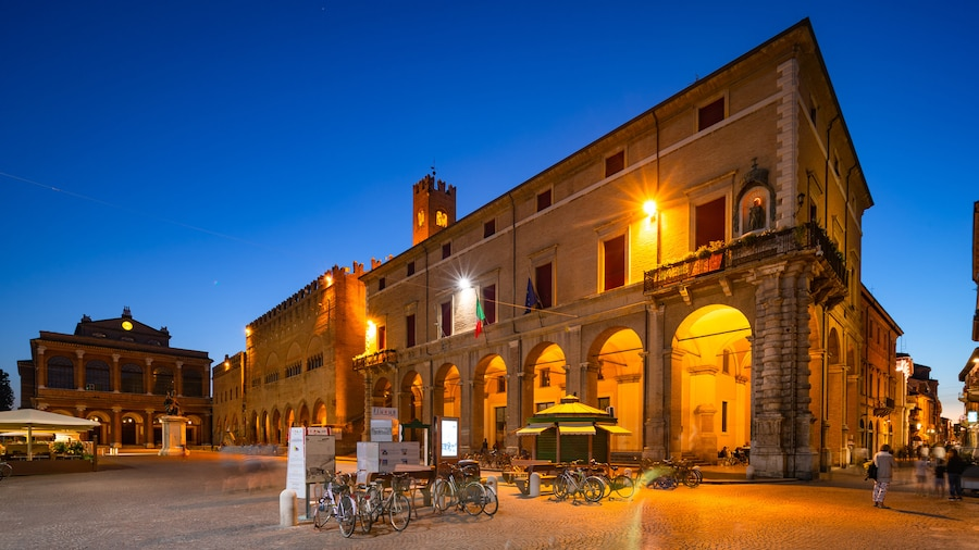 Rimini City Hall featuring night scenes and heritage elements