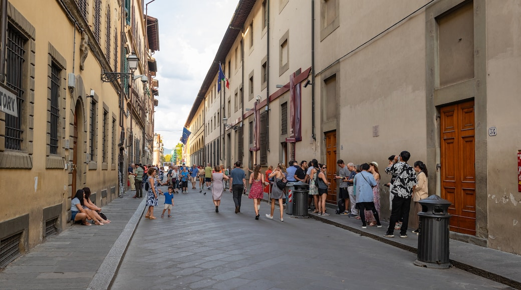 Accademia Gallery which includes street scenes as well as a large group of people