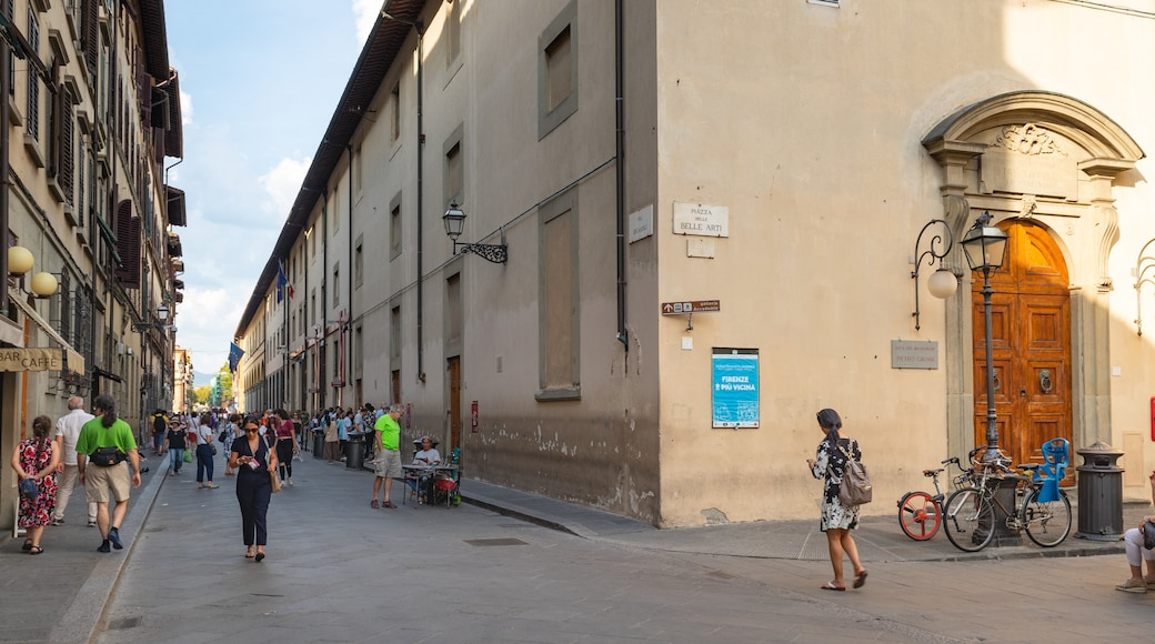 Accademia Gallery which includes street scenes as well as a small group of people