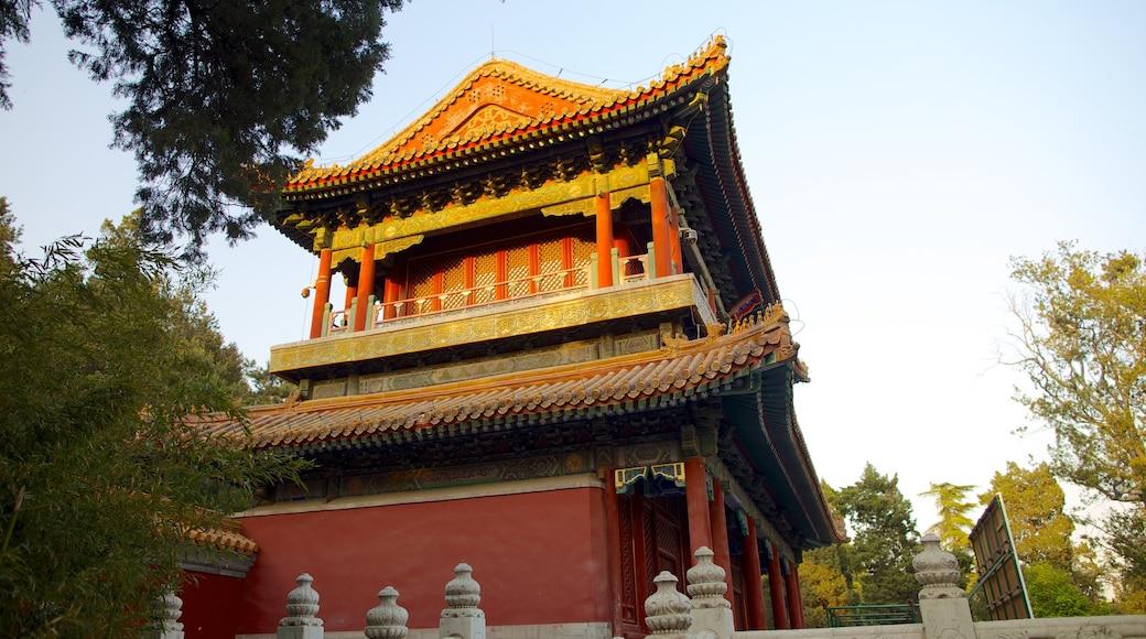 Parc Jingshan mettant en vedette temple ou lieu de culte et patrimoine architectural