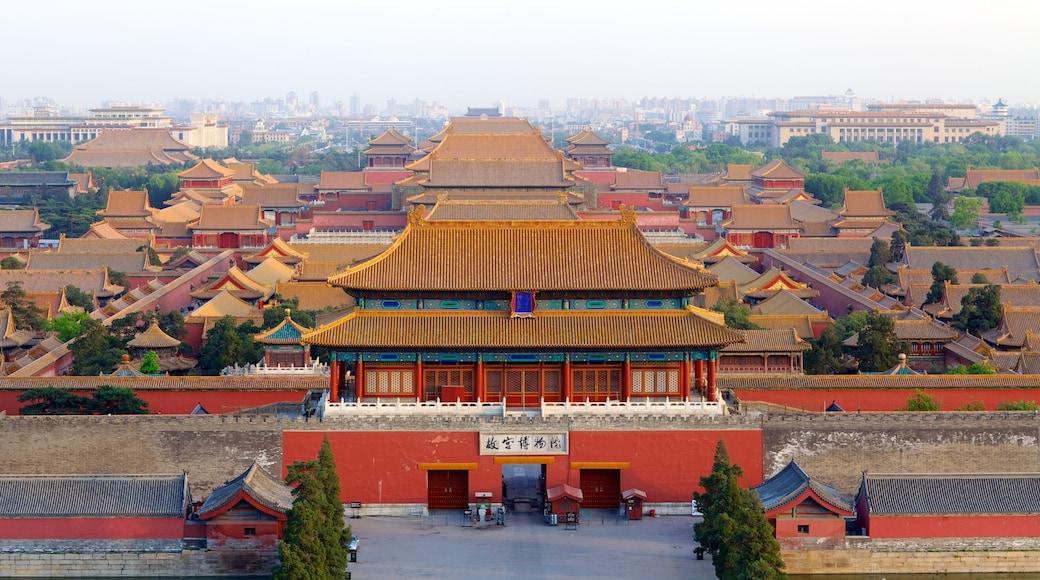 Parc Jingshan qui includes ville et silhouettes urbaines