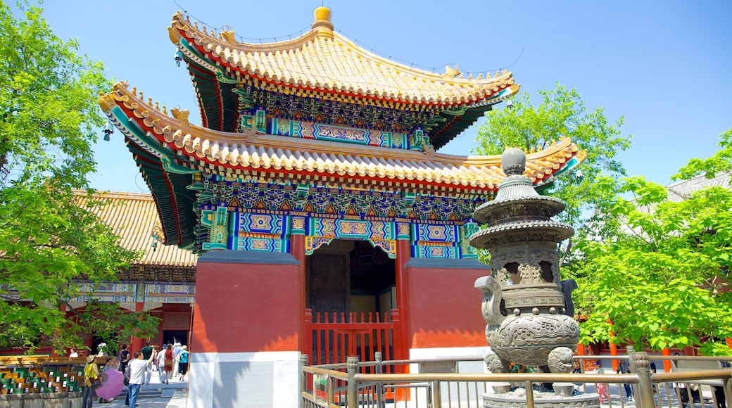 Lama Temple showing religious elements, outdoor art and a temple or place of worship