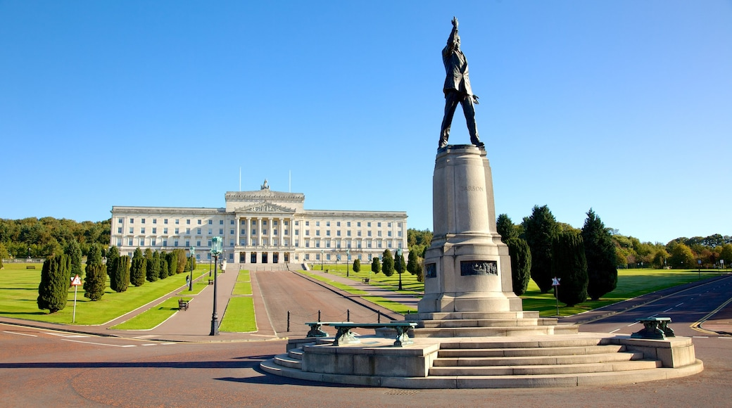 Stormont Parliament Buildings which includes a monument, an administrative building and a statue or sculpture