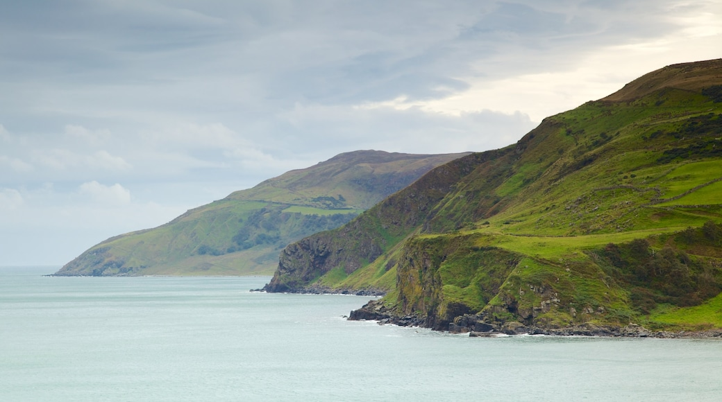 Torr Head featuring landscape views, tranquil scenes and rocky coastline