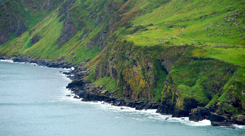 Torr Head which includes rugged coastline and tranquil scenes