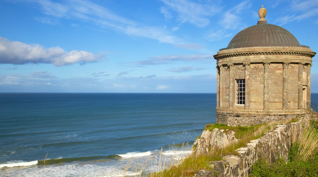Mussenden Temple which includes general coastal views