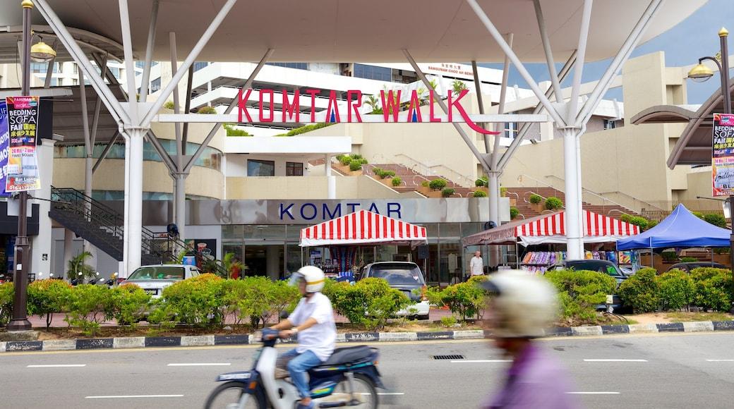 KOMTAR แสดง ป้าย, ภาพท้องถนน และ ขี่รถจักรยานยนต์
