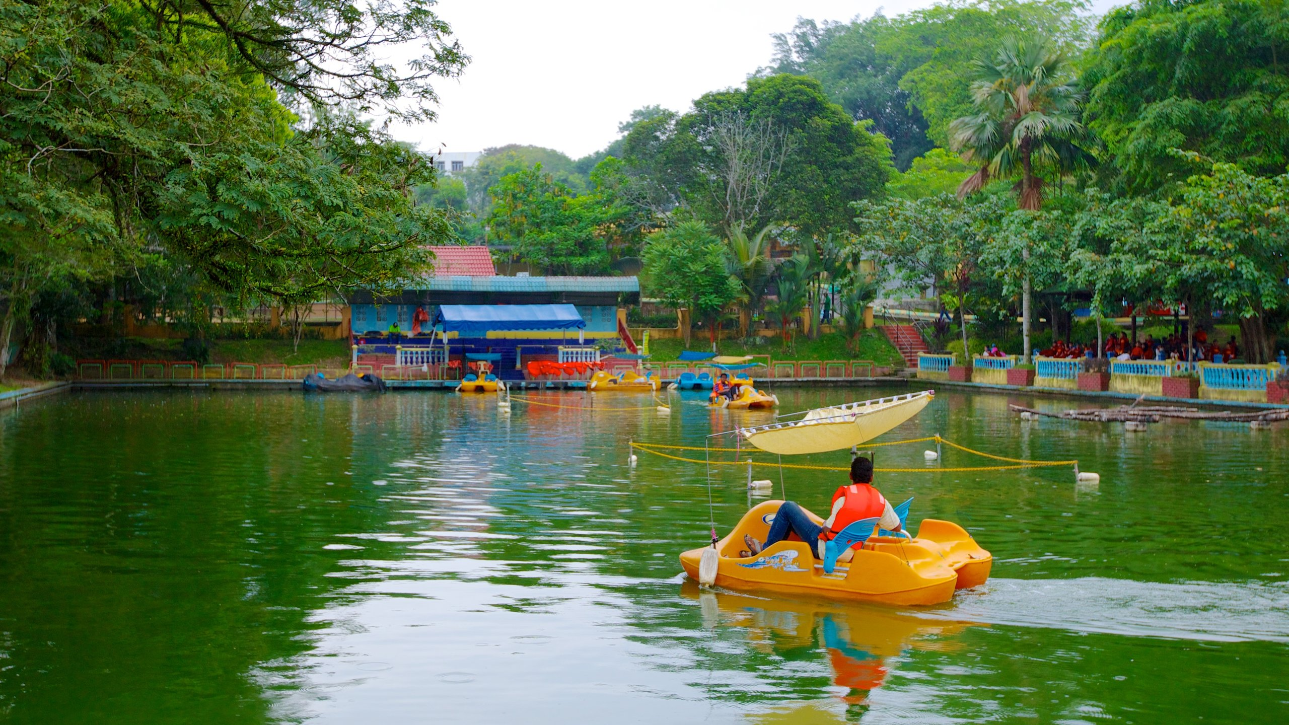 Johor Bahru which includes zoo animals, a pond and watersports