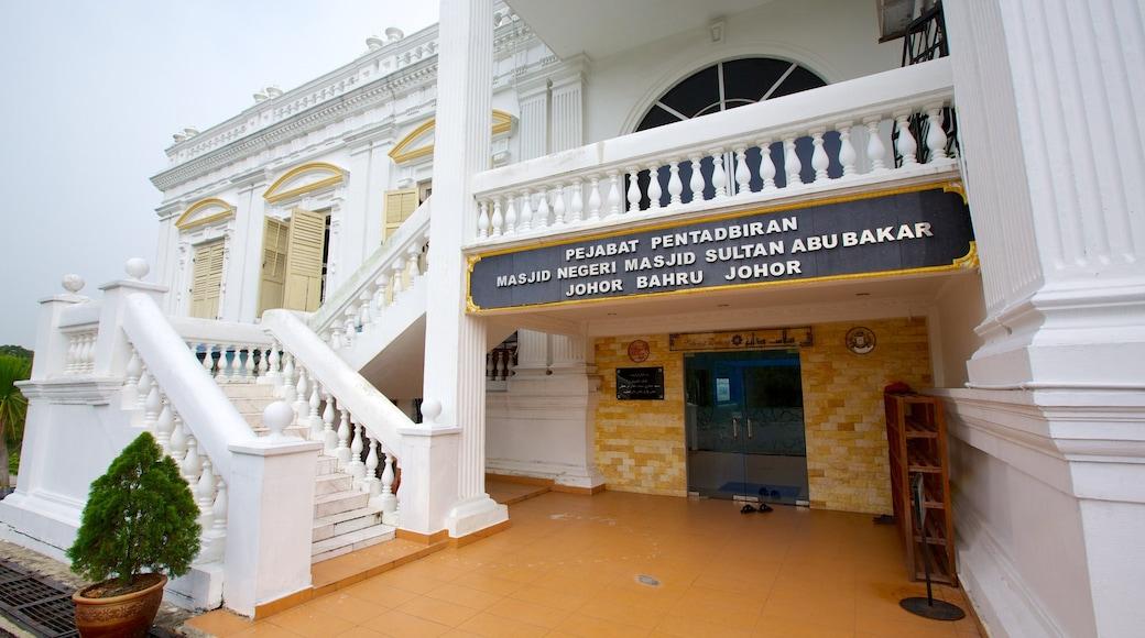 柔佛巴魯 其中包括 宗教元素, 指示牌 和 清真寺