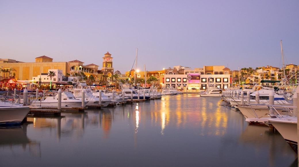 Marina Cabo San Lucas which includes a marina and a coastal town