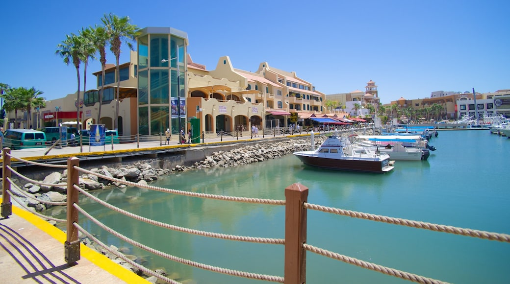 Marina Cabo San Lucas showing a coastal town and a bay or harbour