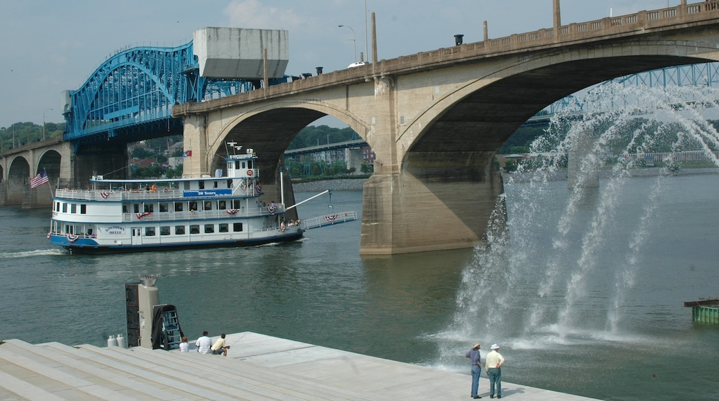 Chattanooga featuring a bridge, a ferry and a river or creek