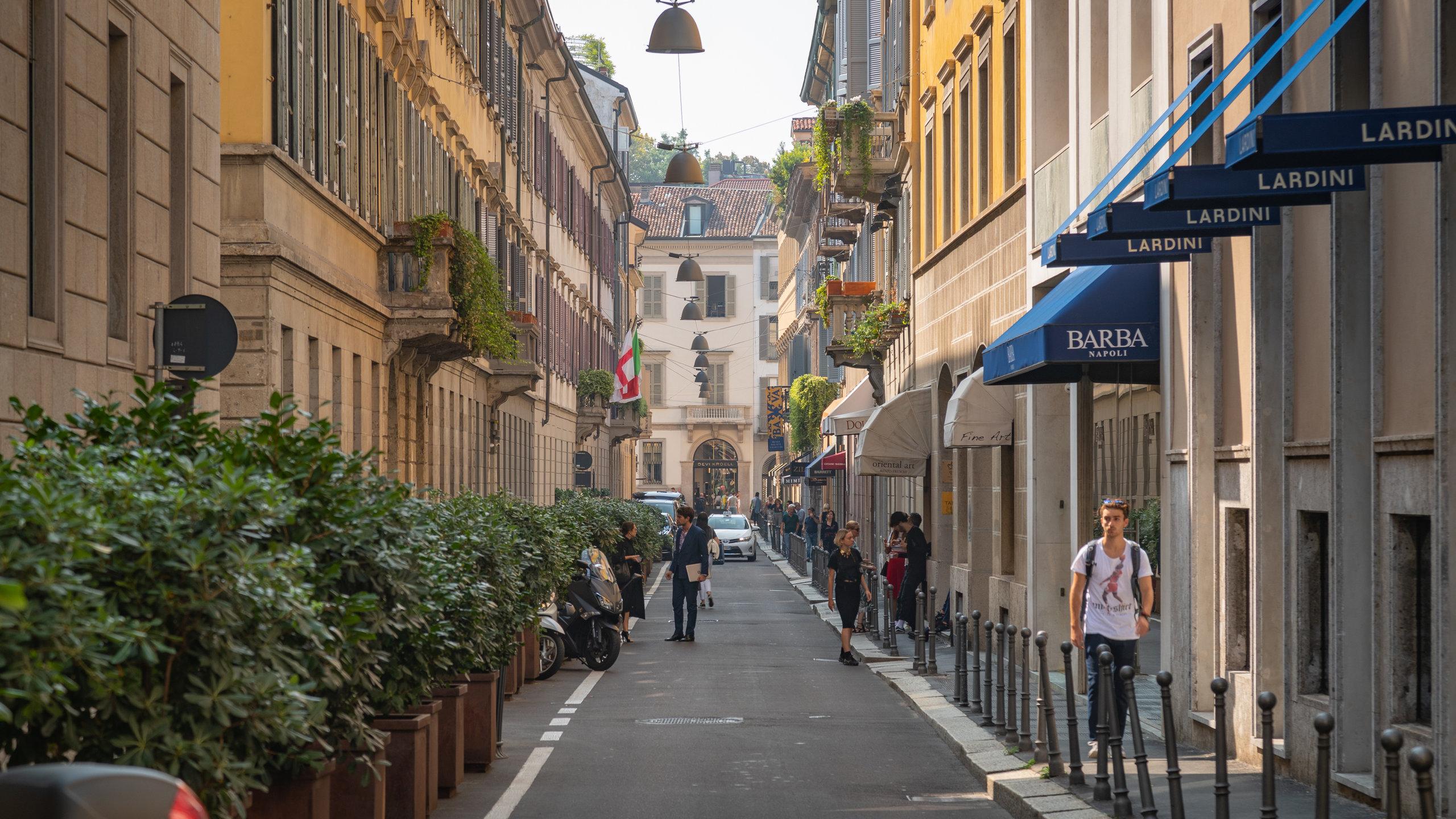 Via Montenapoleone, Mailand, Lombardei, Italien