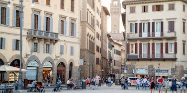 Piazza Santa Croce which includes a city and street scenes
