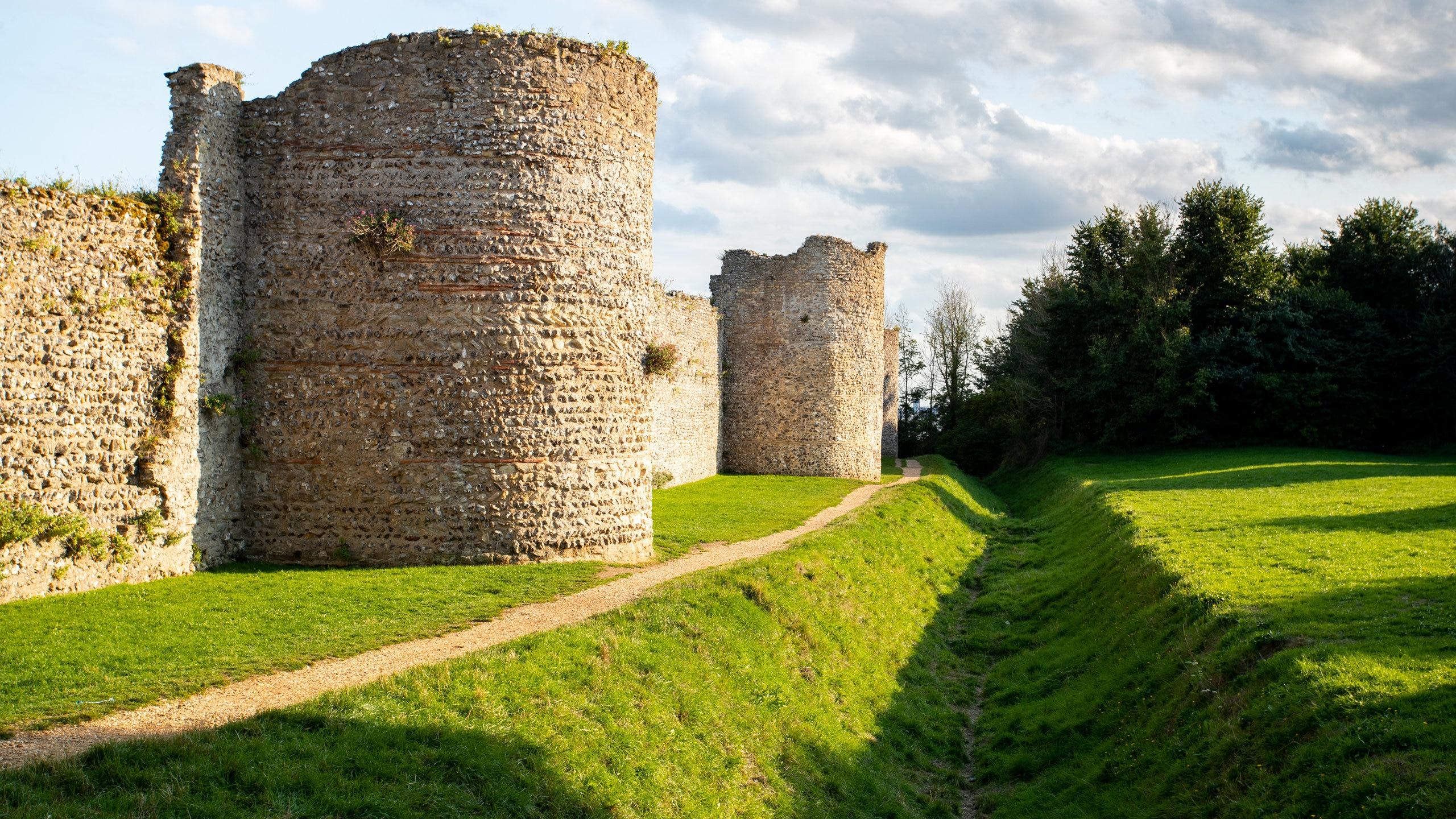 Portchester Castle, Fareham, England, United Kingdom