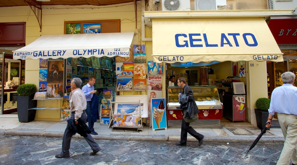 Atene mostrando shopping, strade e mercati