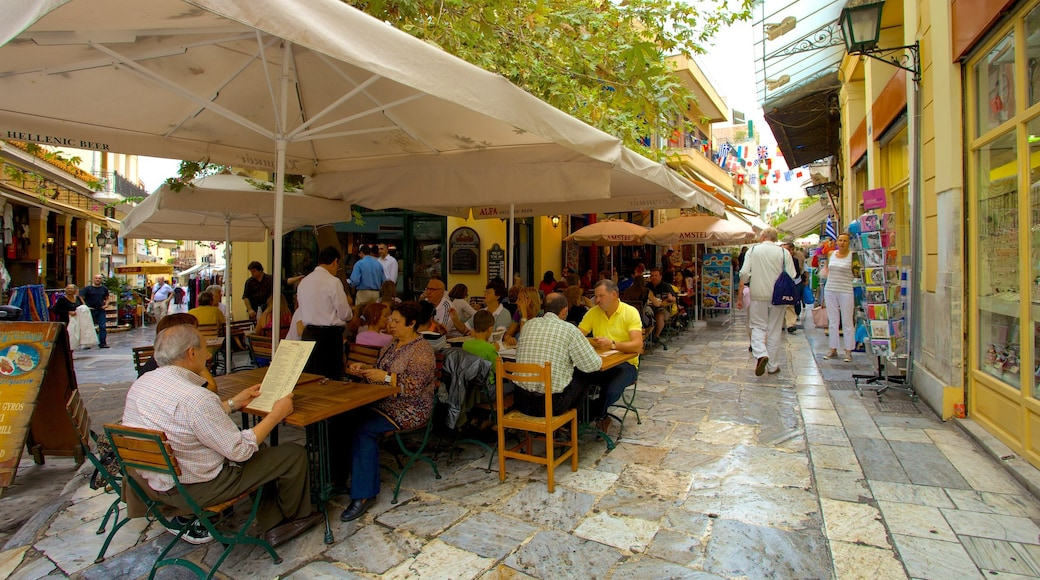 Athens featuring street scenes, café lifestyle and outdoor eating