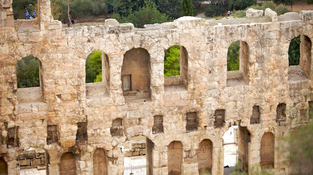 Acropolis which includes heritage architecture and building ruins
