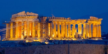 Acropolis showing heritage elements, a ruin and heritage architecture