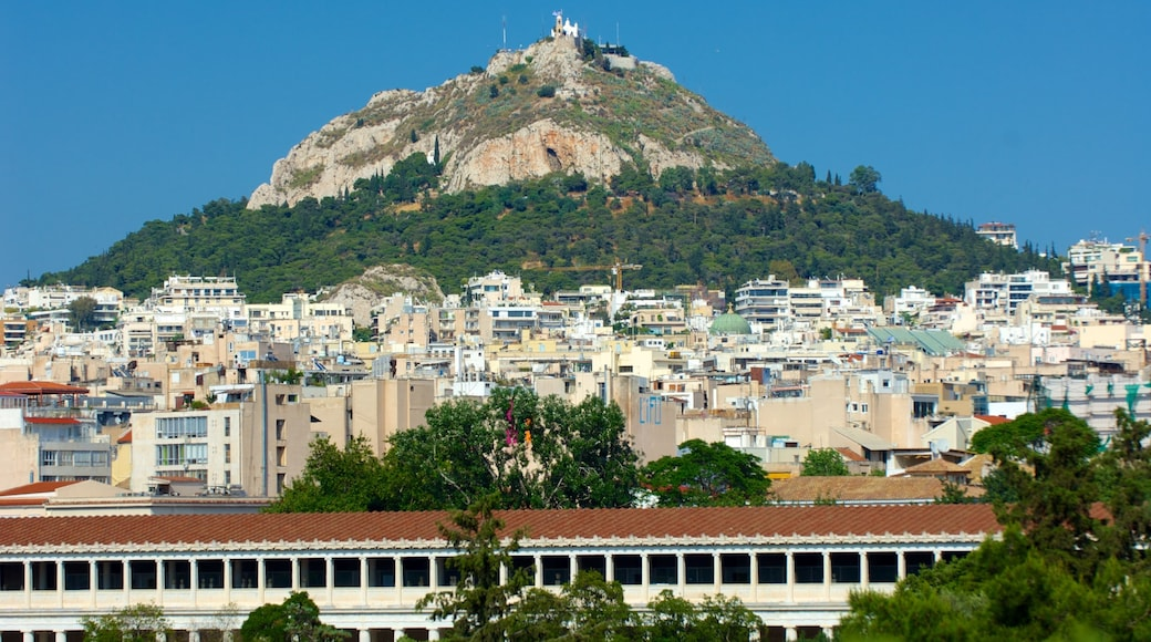 Mount Lycabettus featuring a city and mountains