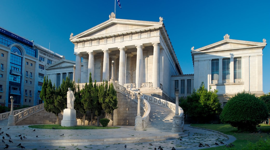 National Library of Greece which includes street scenes, an administrative building and heritage architecture