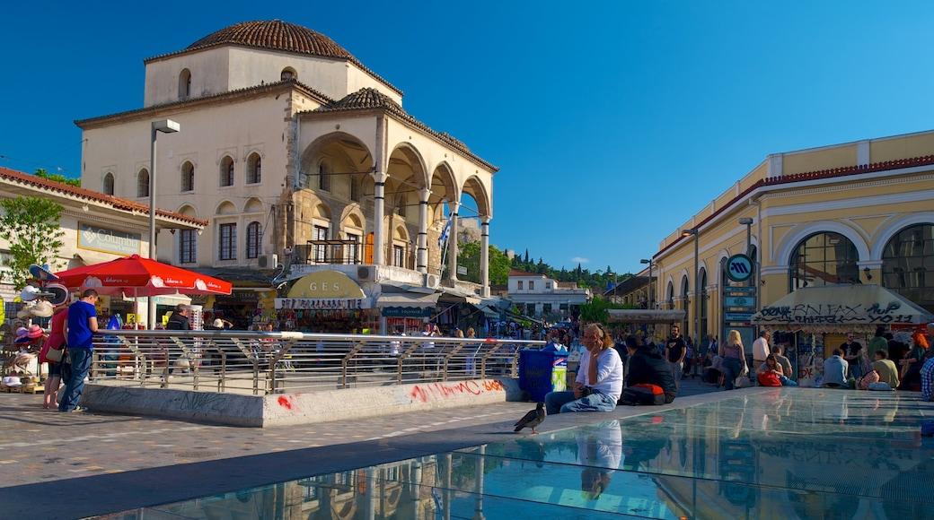Mercato delle pulci di Monastiraki caratteristiche di piazza, strade e città
