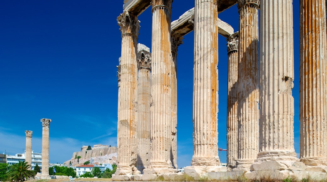 Temple of Olympian Zeus showing heritage architecture and building ruins