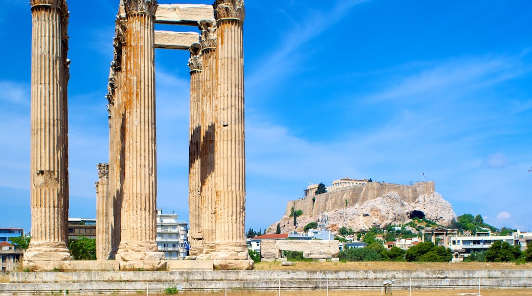 Temple of Olympian Zeus which includes heritage architecture, a city and a temple or place of worship
