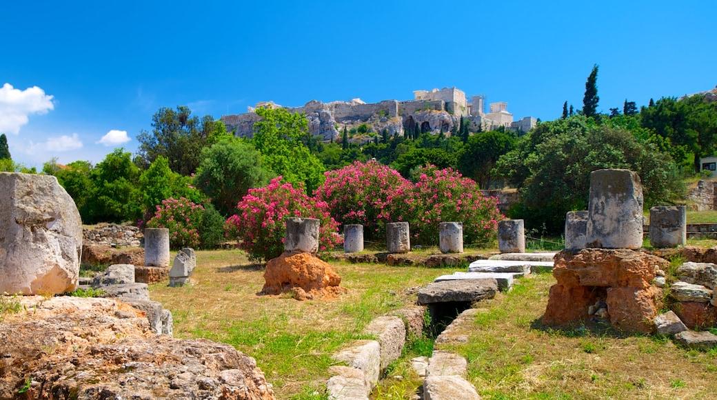 Antike Agora mit einem Geschichtliches, Ruine und historische Architektur