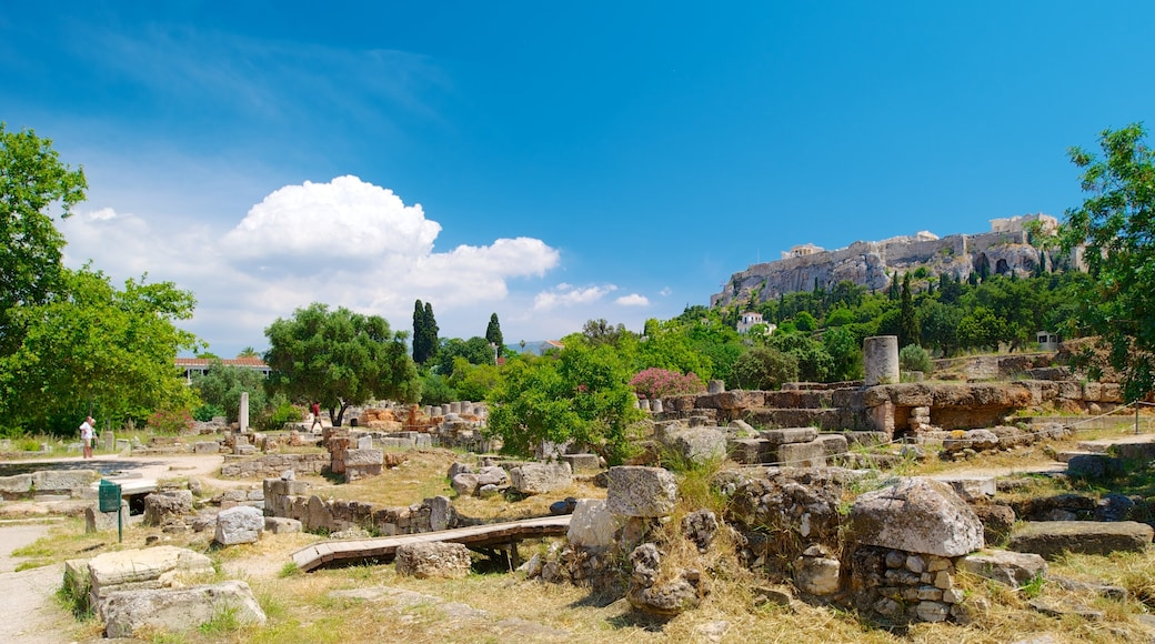 Antike Agora das einen Ruine, historische Architektur und Geschichtliches