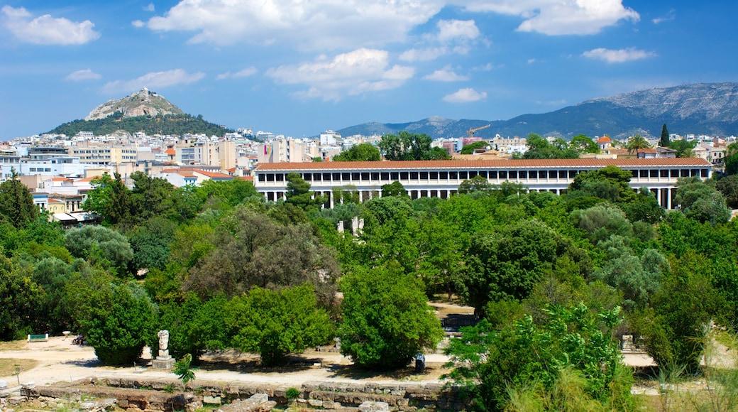 Antike Agora das einen Stadt