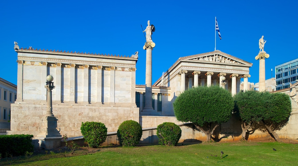 Academy of Athens which includes heritage elements, heritage architecture and an administrative buidling