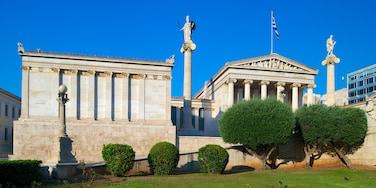 Athener Akademie welches beinhaltet historische Architektur, Geschichtliches und Verwaltungsgebäude