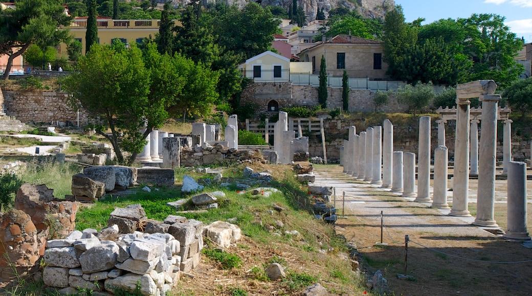 Atenas que incluye elementos del patrimonio, una ciudad y una ruina