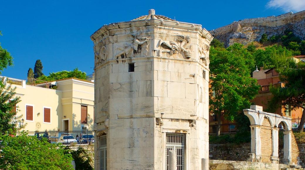Atenas que incluye elementos del patrimonio y patrimonio de arquitectura