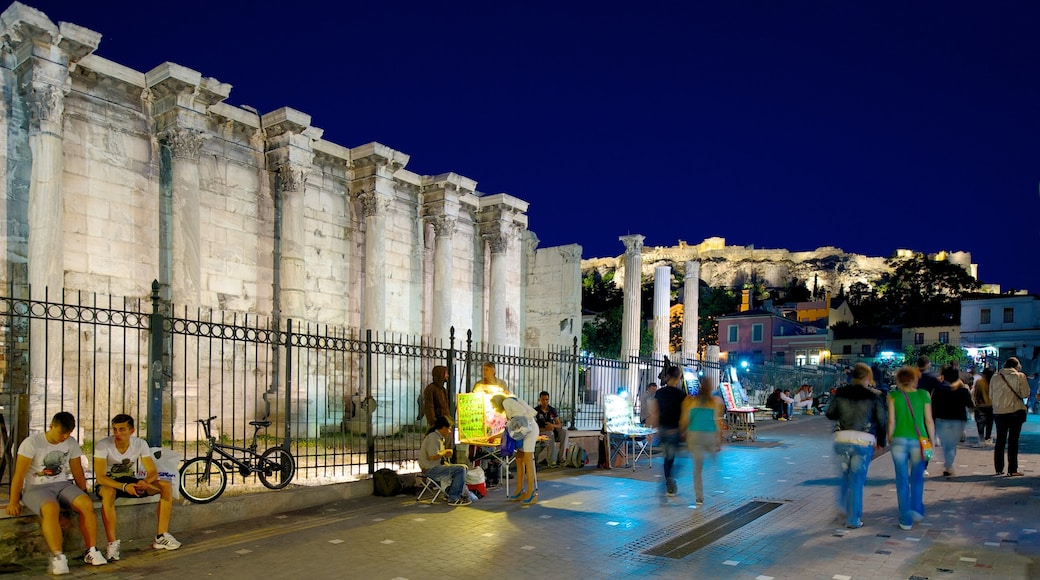 Athens showing heritage elements, a city and street scenes