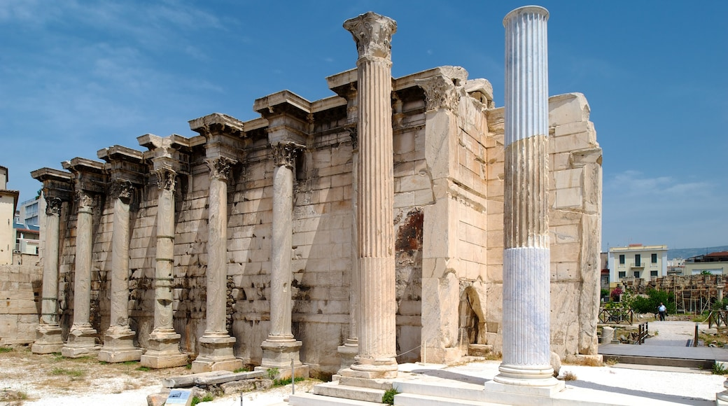 Athens showing heritage elements, heritage architecture and a ruin