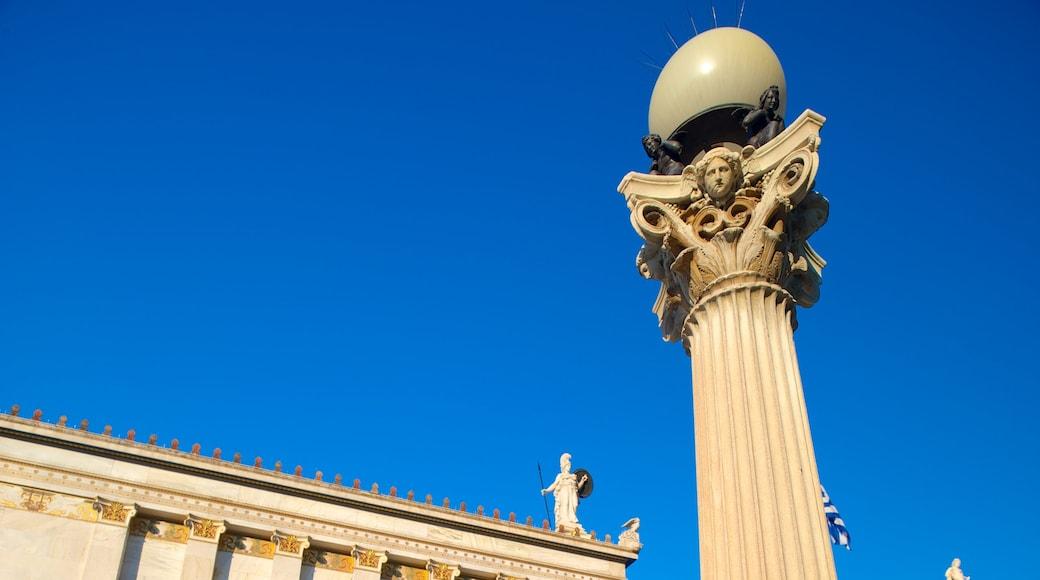 Academia de Atenas que inclui arquitetura de patrimônio