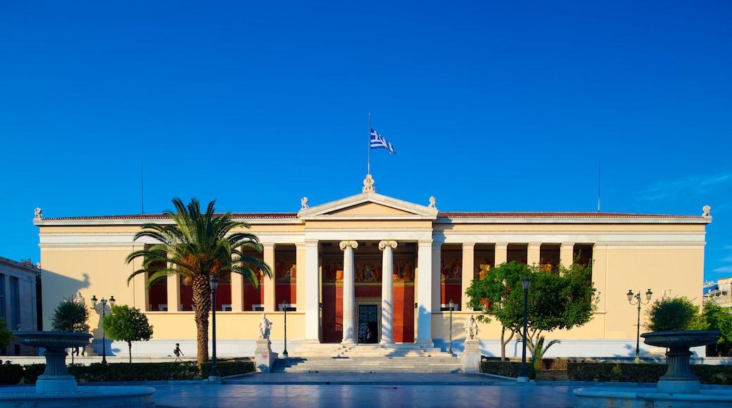 Academia de Atenas caracterizando um edifício administrativo