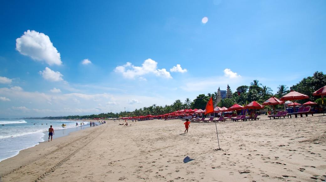 Kuta Beach showing a beach