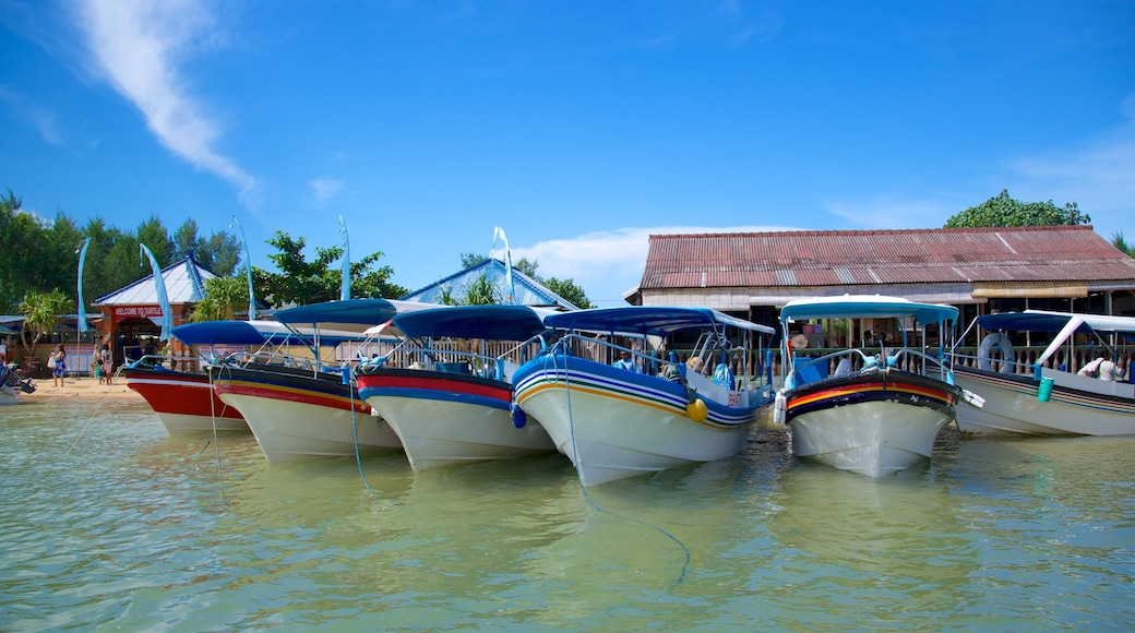 Turtle Island which includes general coastal views, a coastal town and boating