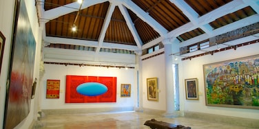 Agung Rai Museum of Art featuring interior views and art