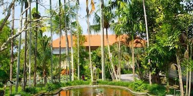 Museum Puri Lukisan featuring a park, a pond and a luxury hotel or resort