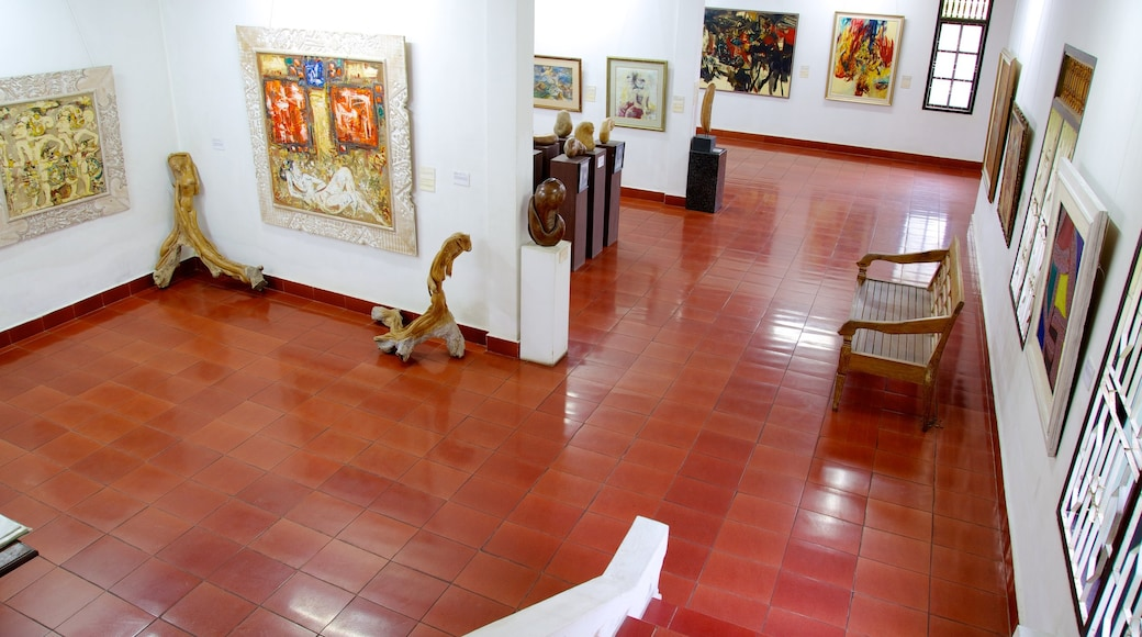 Neka Art Museum which includes interior views and art