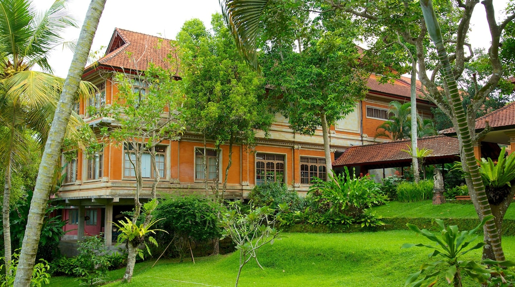 Neka kunstmuseum som viser hus og hage