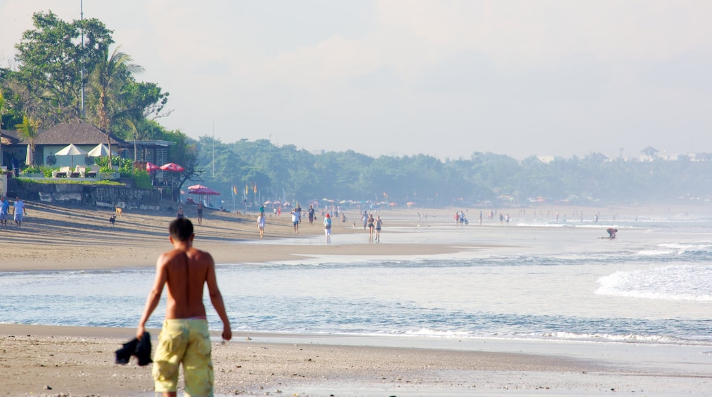 Seminyak showing a beach as well as an individual male