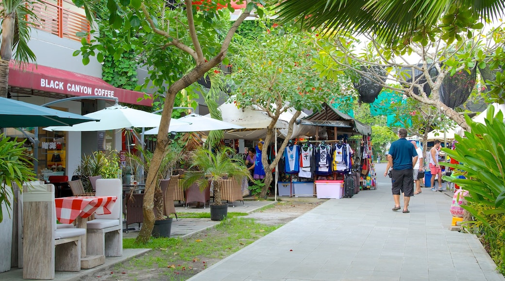 Seminyak Square which includes markets and street scenes